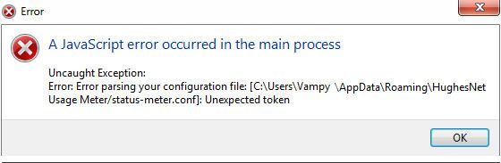 Solved: Usage meter javascript error - HughesNet Community - 74825