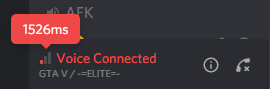 Discord Latency. Sitting idle in channel not speaking or anyone else speaking.  But if someone does speak it doesn't spike when they speak.