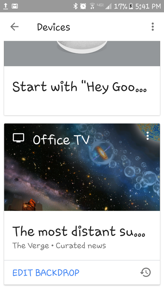 Rotating backgrounds even with TV off and 1x1 black images placed in Google Photos and GH pointed to that folder.  All other options are turned off.