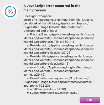 get this when I try to open Usage Meter
